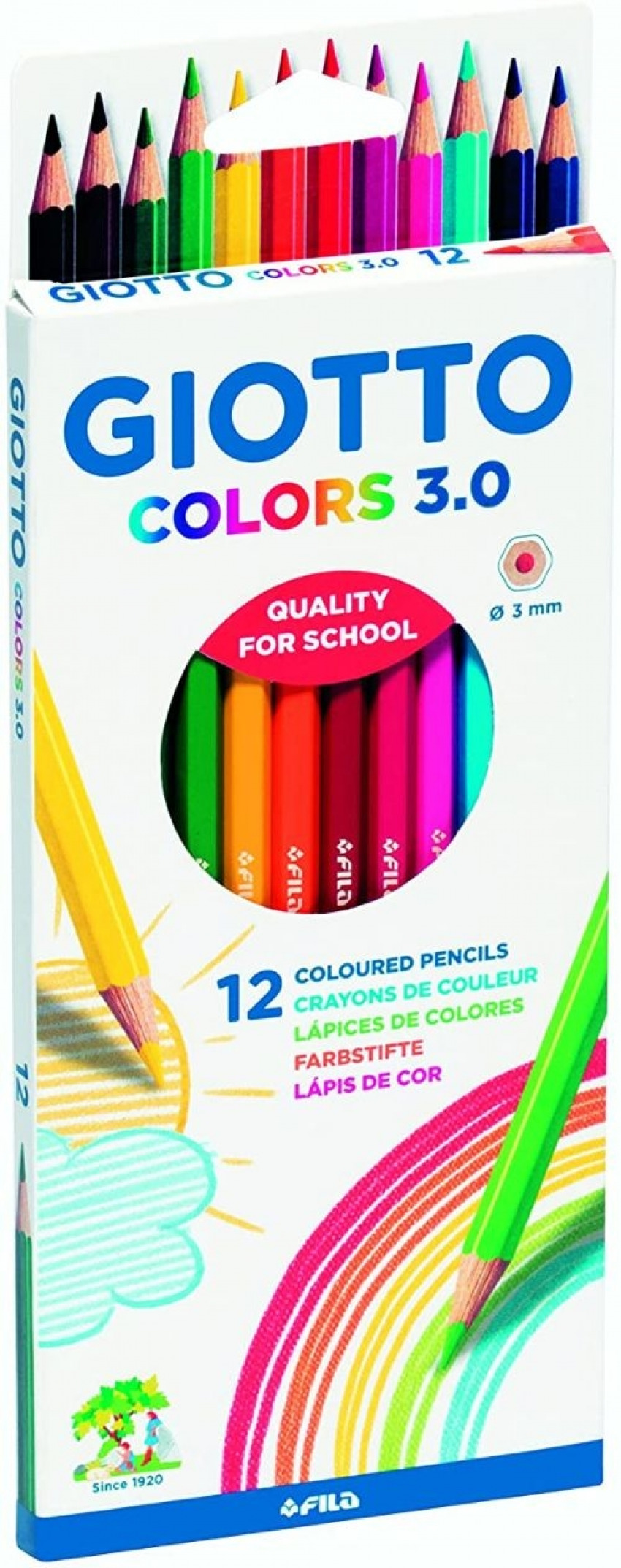 Estuche 12 lápices colores giotto colors 3.0 8000825009907