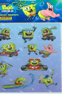 BOB ESPONJA 1 STICKERS 105X205 8018190042016
