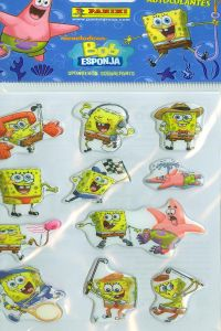 BOB ESPONJA 2 STICKERS 105X205 8018190044942