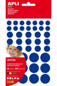 Bolsa 2oh gomets formas y colores surtidas permanentes 8410782007067
