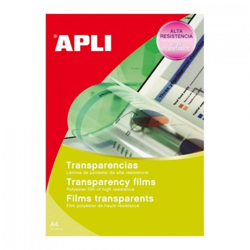 Caja 100 transparencias fotocopiadora A4 una cara Apli