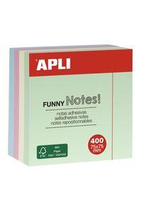 Cubo 400 notas adhesivas 75x75mm colores pastel Apli 8410782109723