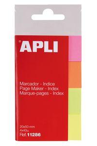 Índices autoadhesivos 20x50mm colores surtidos brillantes Apli 8410782112860