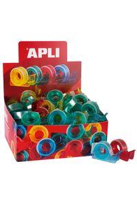 Exp 60 mini portarrollos cinta adhesiva 10mx15mm Apli 8410782120827