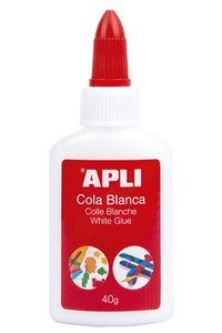 Bote pegamento cola blanca 40g Apli 8410782128489