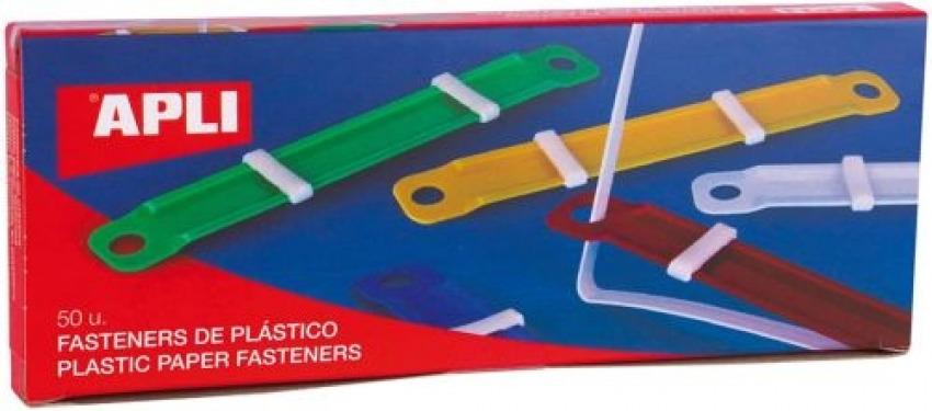 C/50 fastener completo plastico colores surtidos verde,rojo,amarillo,azul y blanco 8410782149095
