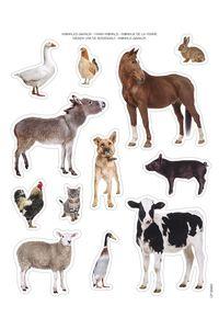 BOLSA 2 HOJAS GOMETS ANIMALES DE LA GRANJA REMOVIBLES 8410782166191