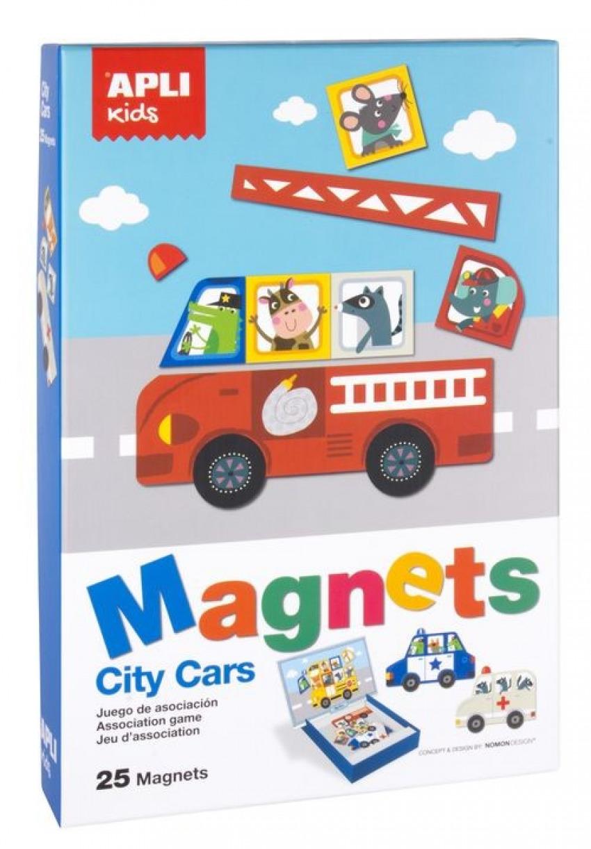 Juego magnetico vehiculos de ciudad 8410782168638