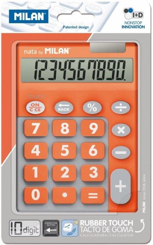 CALCULADORA TOUCH DUO NARANJA 10 DIGITOS MILAN 8411574045090