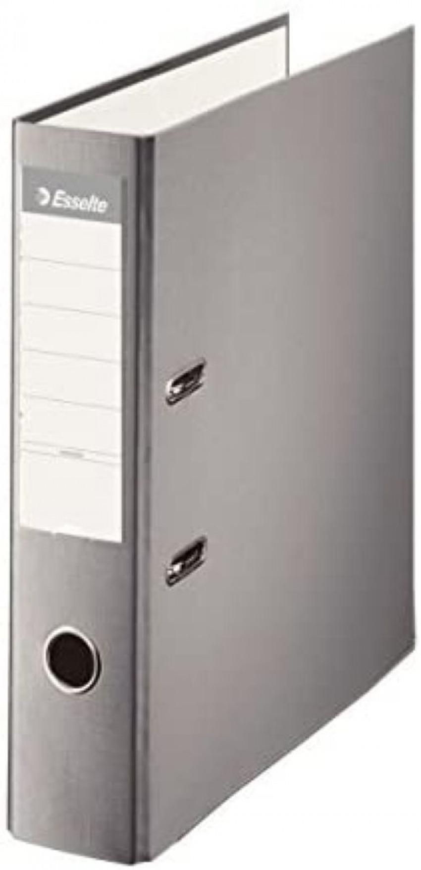 Archivador a4 palanca 75mm carton forrado plastico gris 8411772423300
