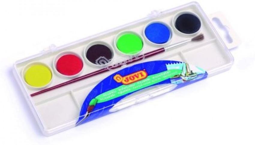 Estuche plastico 6 acuarelas colores surtidos jovi 8412027000512