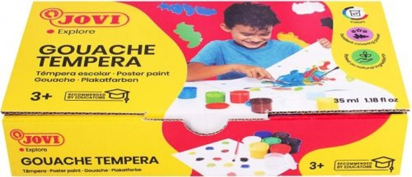 ESTUCHE 7 BOTES TEMPERA 35ML COLORES BASICOS JOVI 8412027000635