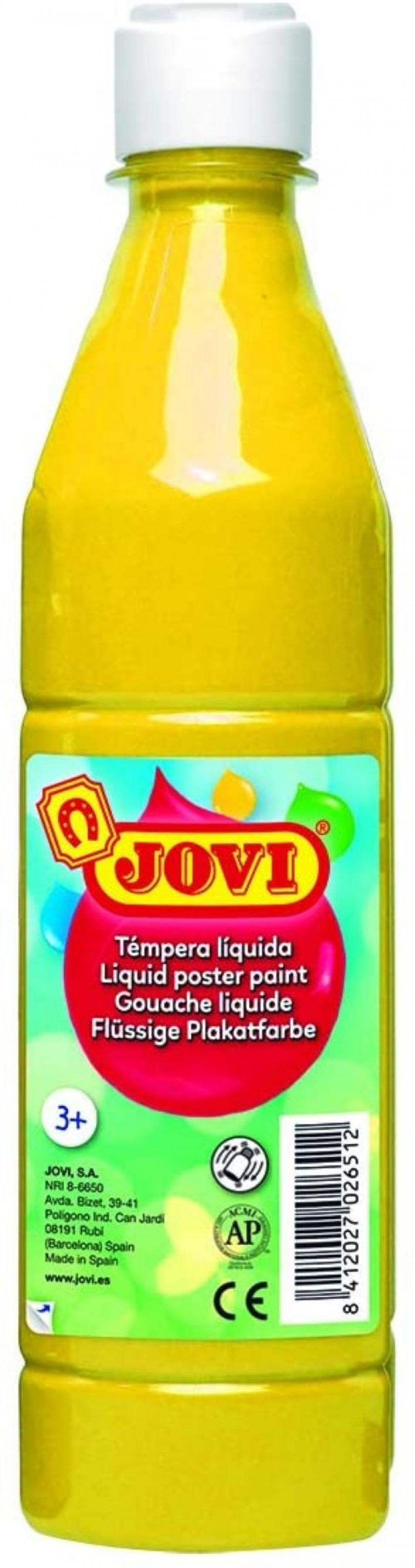 Bote tempera liquida jovi amarillo 500 ml 8412027003650