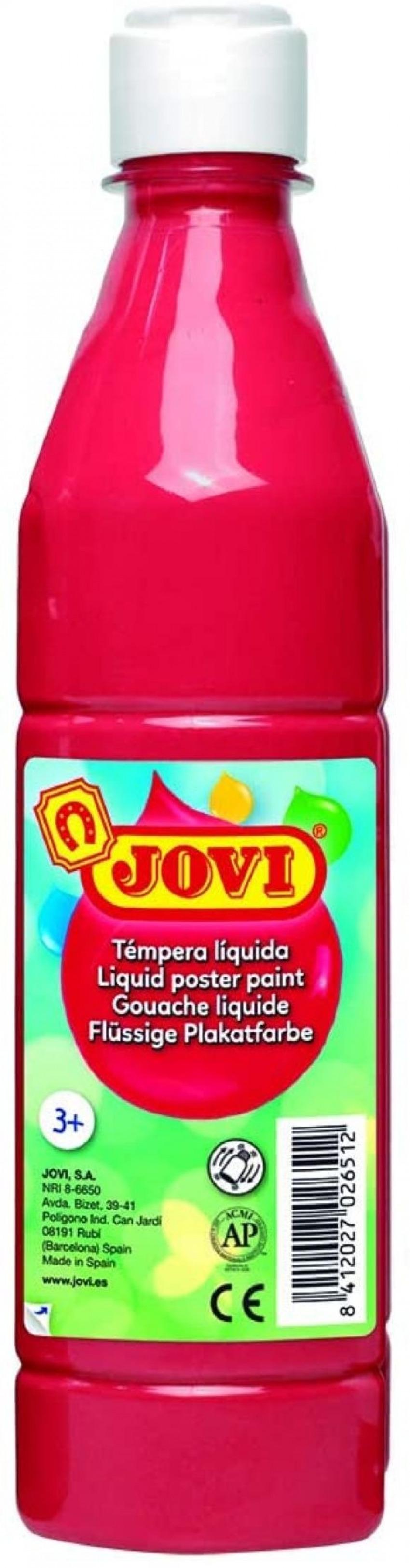 Bote tempera liquida jovi bermellon 500 ml 8412027003674