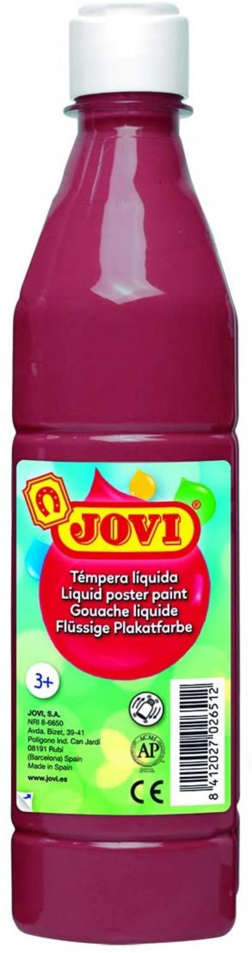 Bote tempera liquida jovi marron 500 ml 8412027003698