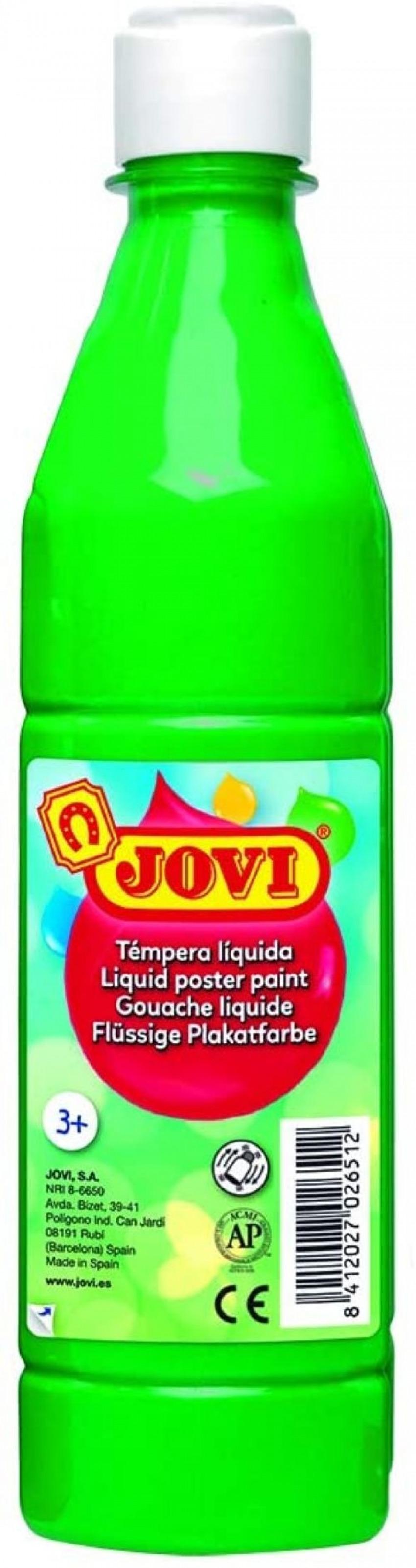 Bote tempera liquida jovi verde medio 500 ml 8412027003704