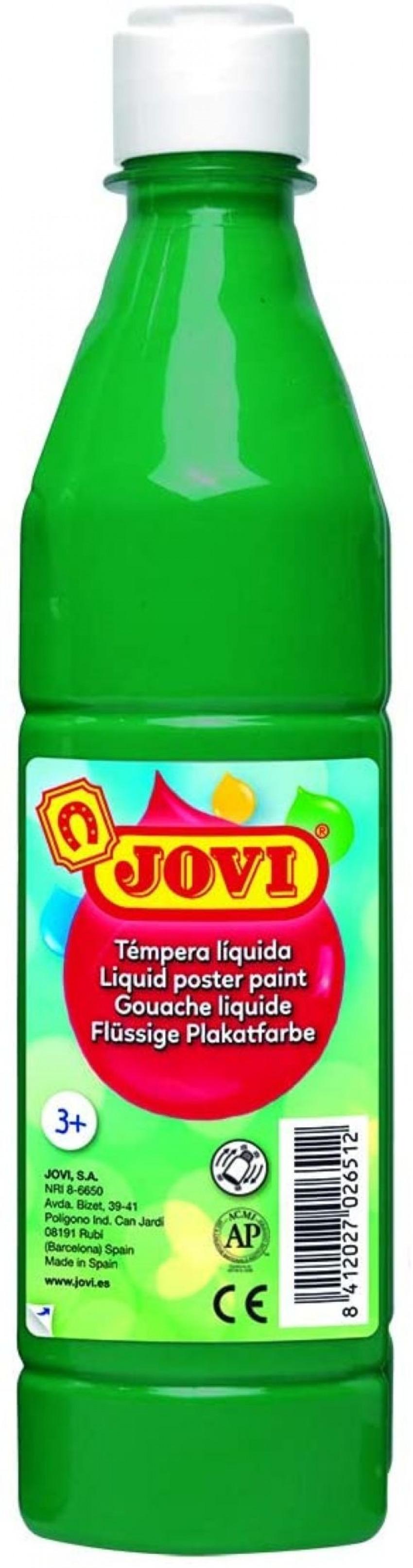 Bote tempera liquida jovi verde oscuro 500 ml 8412027003711