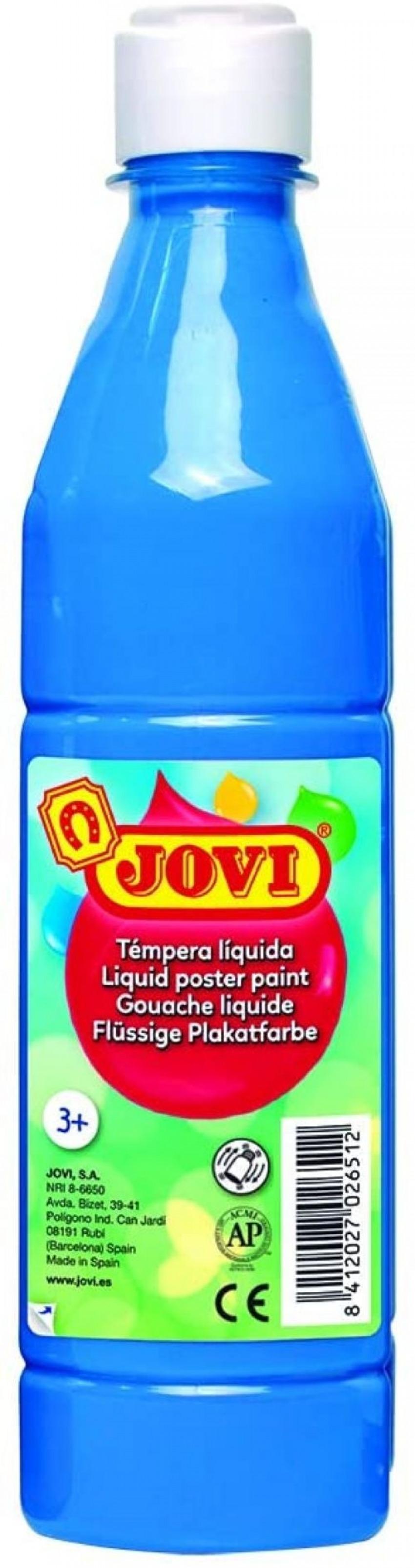 Bote tempera liquida jovi azul cyan 500 ml 8412027003728