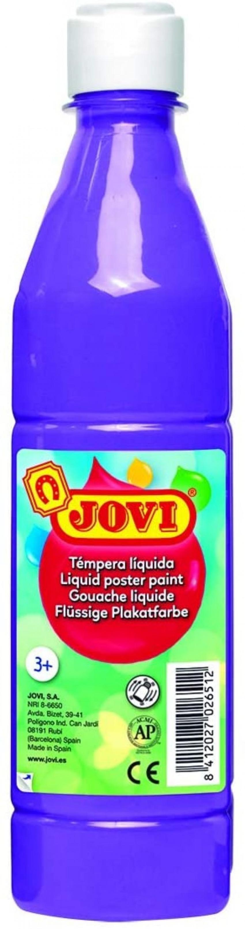 Bote tempera liquida jovi violeta 500 ml 8412027005630