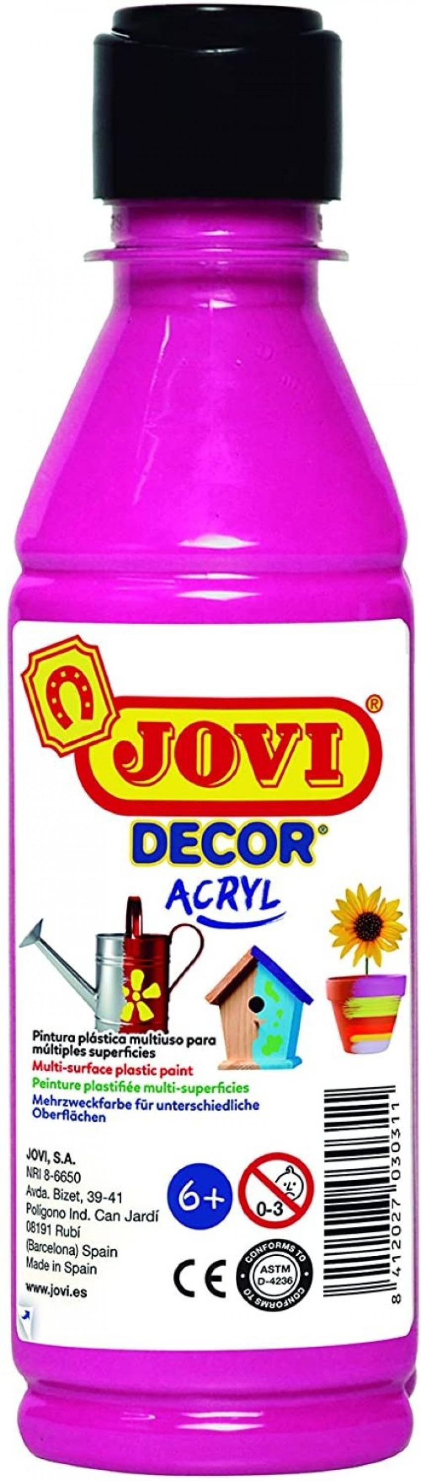 BOTE PINTURA JOVIDECOR ACRYL MAGENTA 250ML 8412027024419