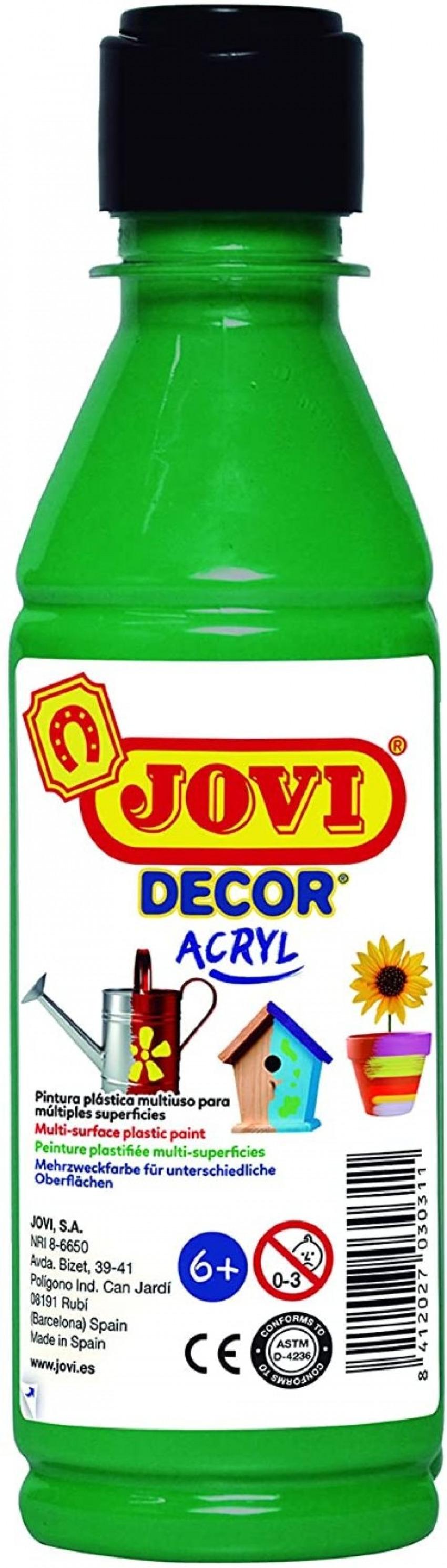 BOTE PINTURA JOVIDECOR ACRYL VERDE OSCURO 250ML 8412027024440