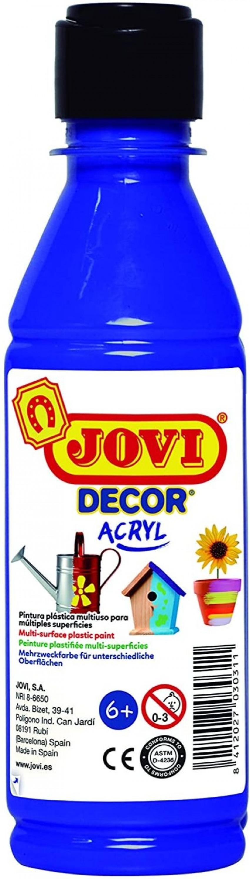 BOTE PINTURA JOVIDECOR ACRYL AZUL ULTRA 250ML 8412027024471