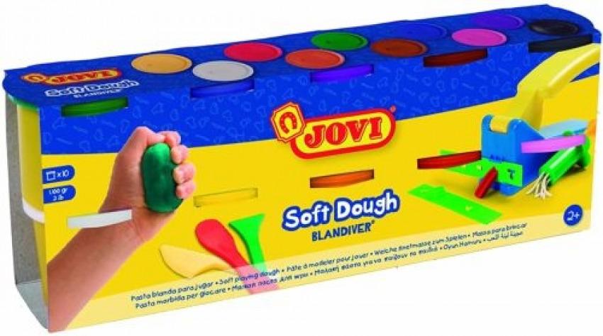 Pack 10 botes blandiver soft dough 110g colores surtidos 8412027029537
