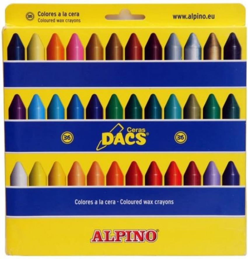 Estuche 36 ceras dacs blandas colores surtidos 8412529300004