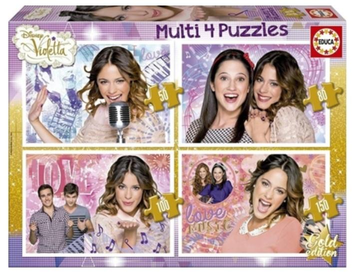 Violetta 4 multipuzzles 50,80,100,150 piezas 8412668161900