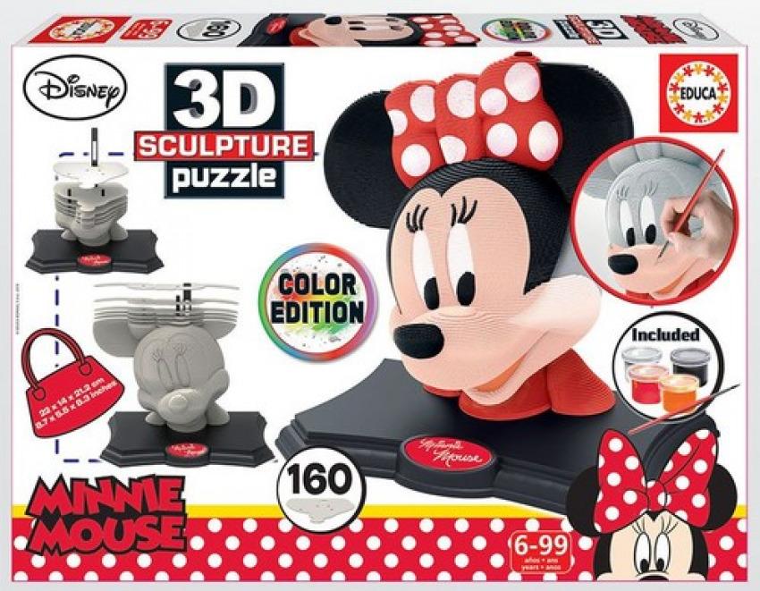 MINNIE MOUSE ESCULTURA 3D PUZZLE 160 PIEZAS 8412668179301