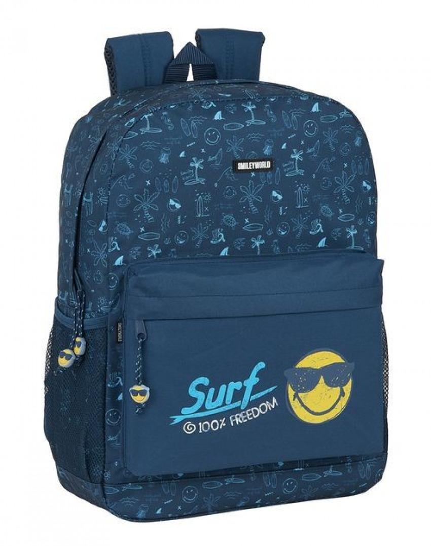 MOCHILA ADAPTABLE A CARRO SMILEY WORLD SURF 32x43x14cm 8412688380732