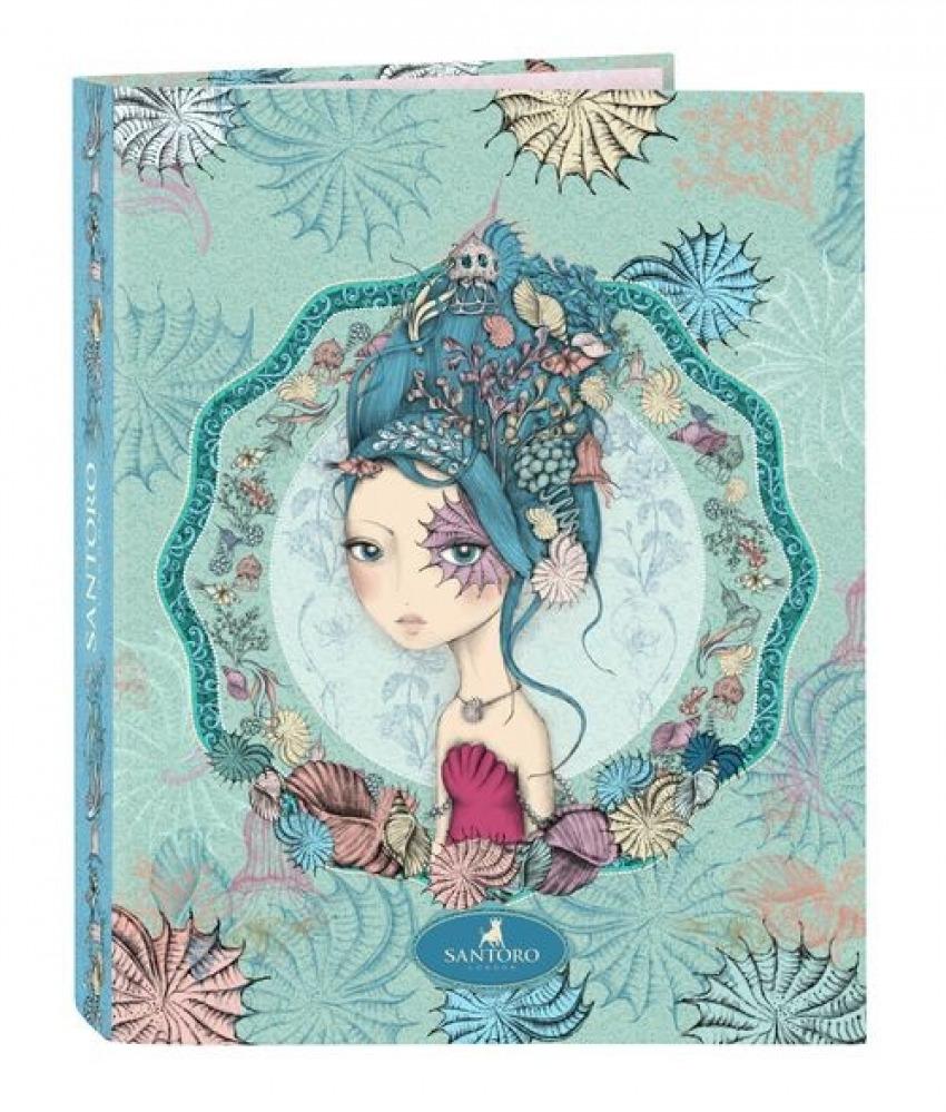Carpeta Carton Folio 4 Anillas Mixtas MIRABELLE MARINA 26,5x33x4cm 8412688383122