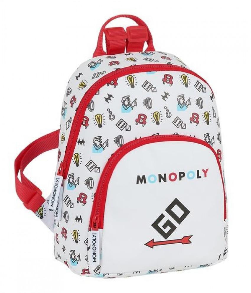 MINI MOCHILA MONOPOLY 25x30x13cm 8412688392285