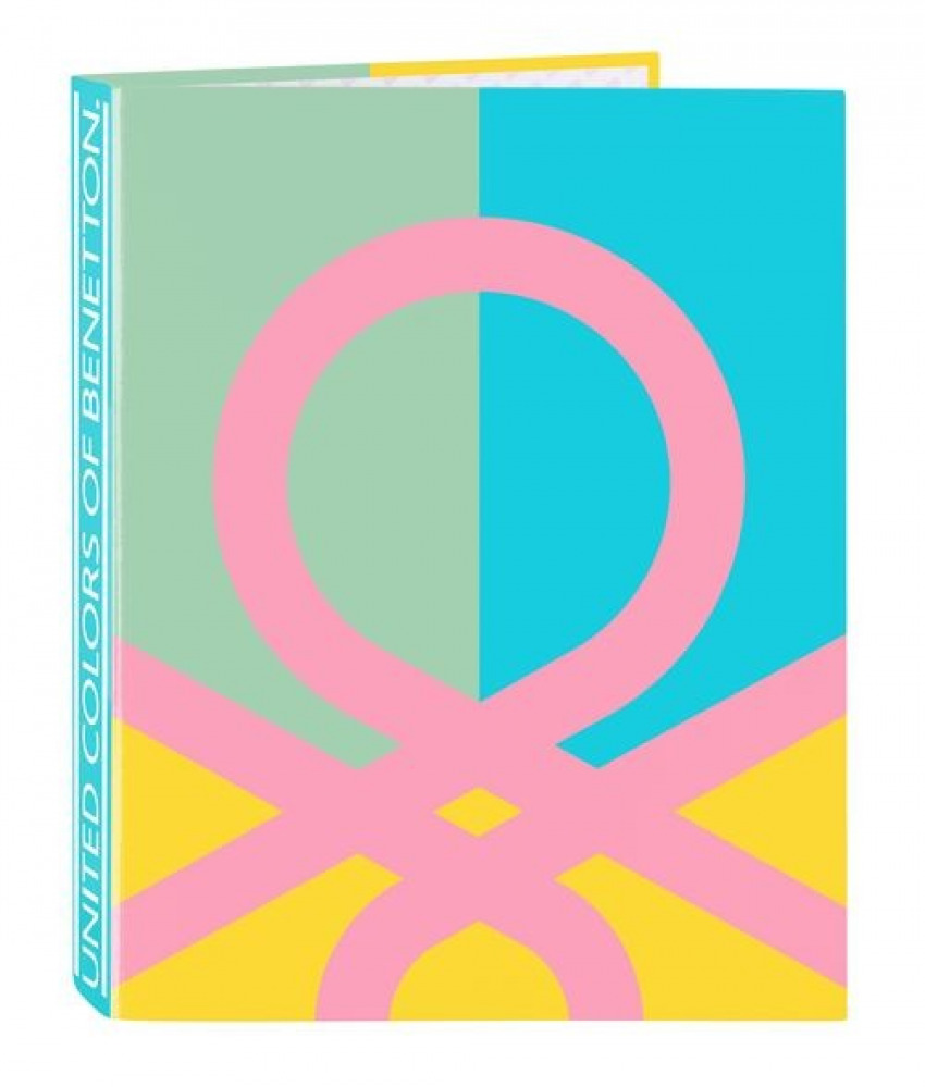 Carpeta Carton Folio 4 Anillas Mixtas BENETTON COLOR BLOCK 26,5x33x4cm 8412688394098