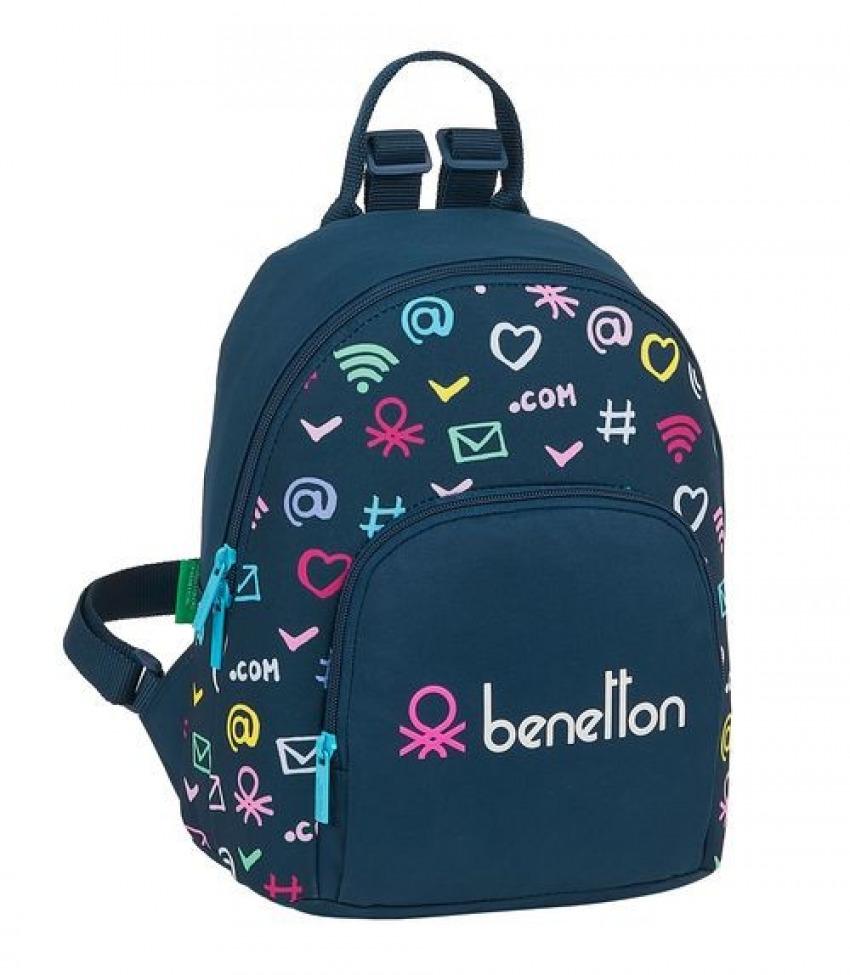 Mini Mochila BENETTON DOT COM 25x30x13cm 8412688396078