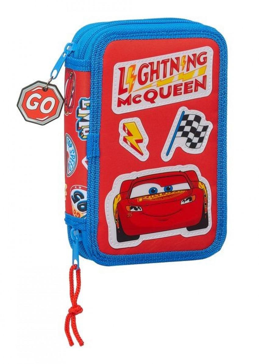 Plumier Doble pequeño 28 piezas CARS MC QUEEN 12,5x19,5x4cm 8412688399611