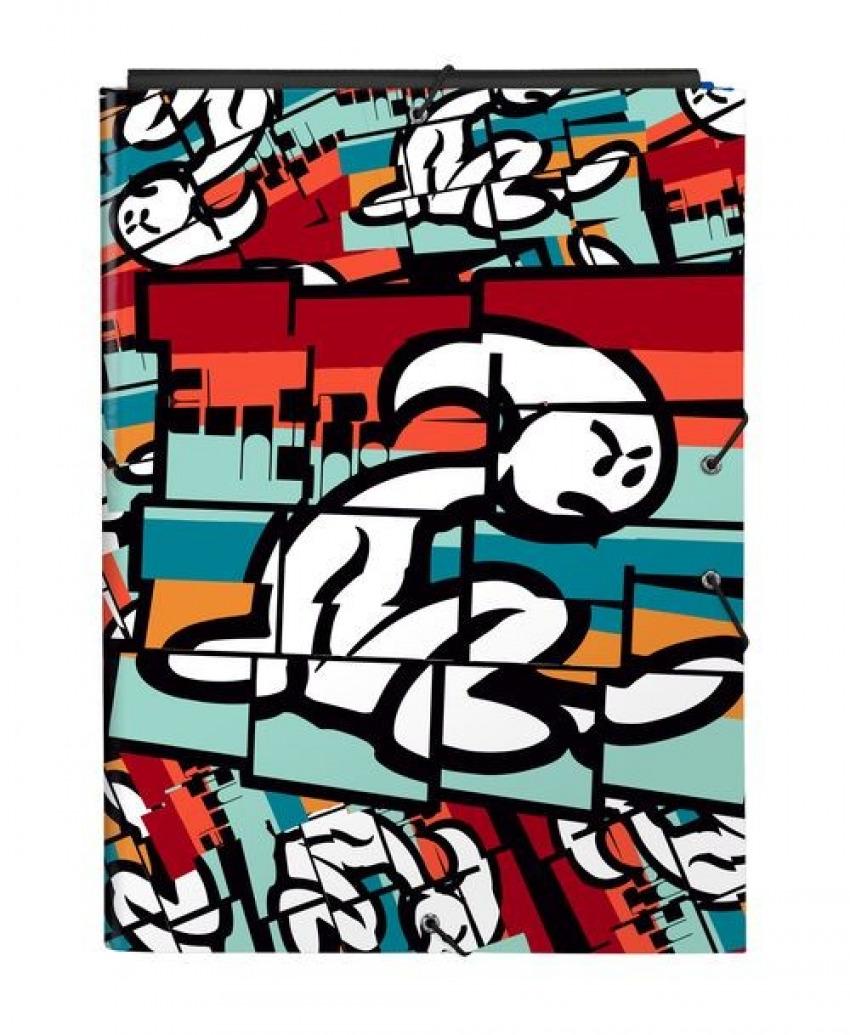 Carpeta Carton Folio Gomas Solapas EL NIñO BALI 26x33,5x2,5cm 8412688421923
