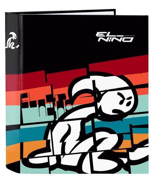 Carpeta Carton Folio 4Anillas Lomo Ancho EL NIñO BALI 27x33x6cm 8412688421930
