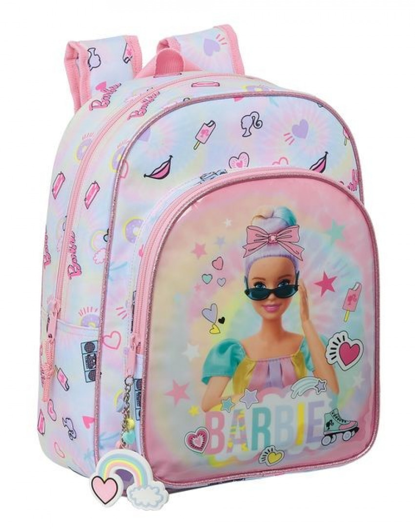 Mochila Infantil Adaptable a Carro BARBIE GIRL POWER 26x34x11cm 8412688426409