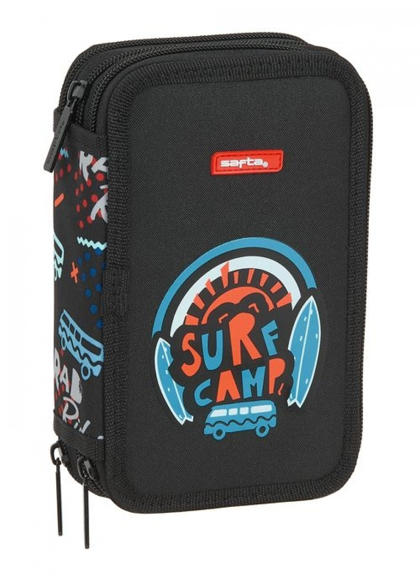 PLUMIER TRIPLE 36 PIEZAS SAFTA SURF CAMP 12,5x19,5x5,5cm 8412688439461