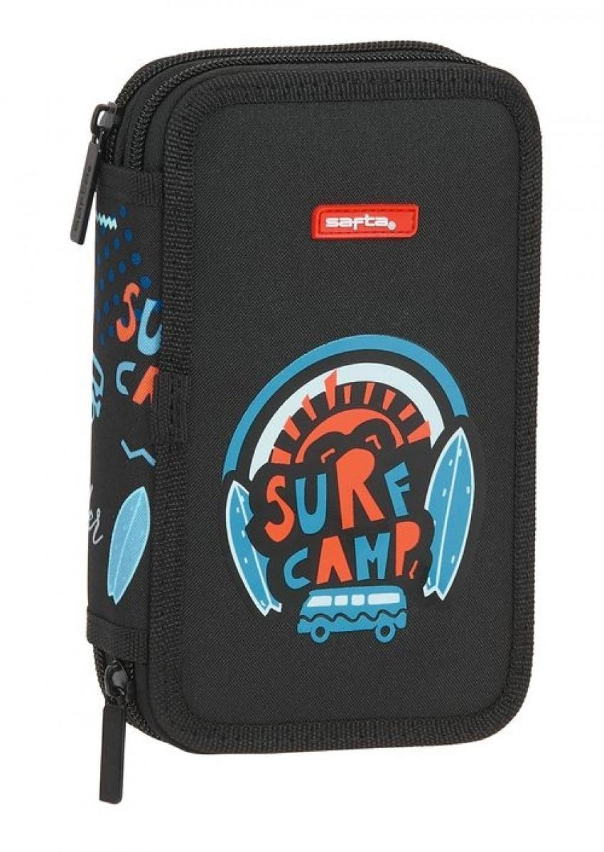 PLUMIER DOBLE PEQUEñO 28 PIEZAS SAFTA SURF CAMP 12,5x19,5x4cm 8412688439577