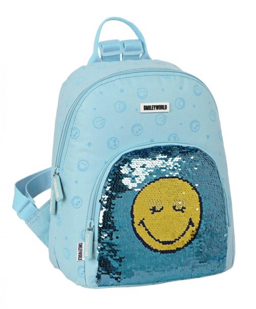 MINI MOCHILA SMILEY WORLD LITTLE DREAMER 25x30x13cm 8412688445653