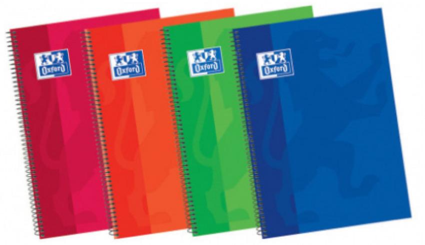 Paq/5 cuaderno espiral fo. 80h 90g. 1 horizontal c/m tapa plastico classic 8412771007348