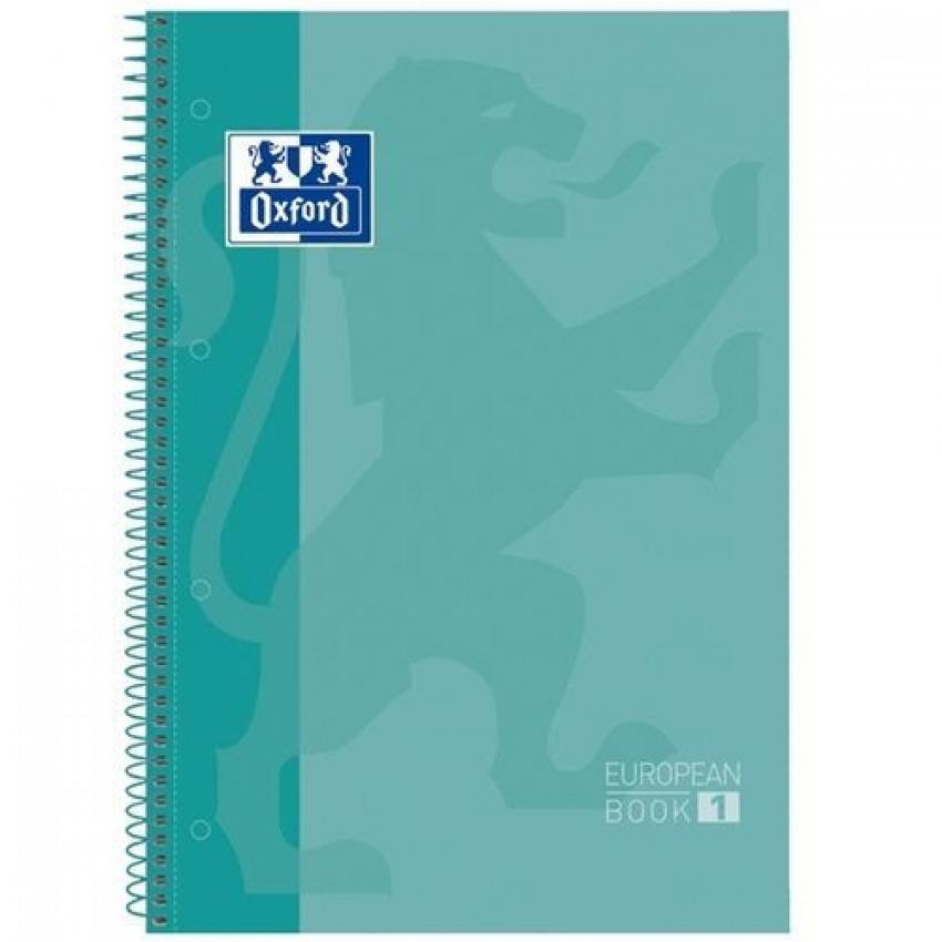 PAQ/5 BLOC A4+ 80H 90G HORIZ ICE MINT EUROPEANBOOK1 OXFORD 8412771016661