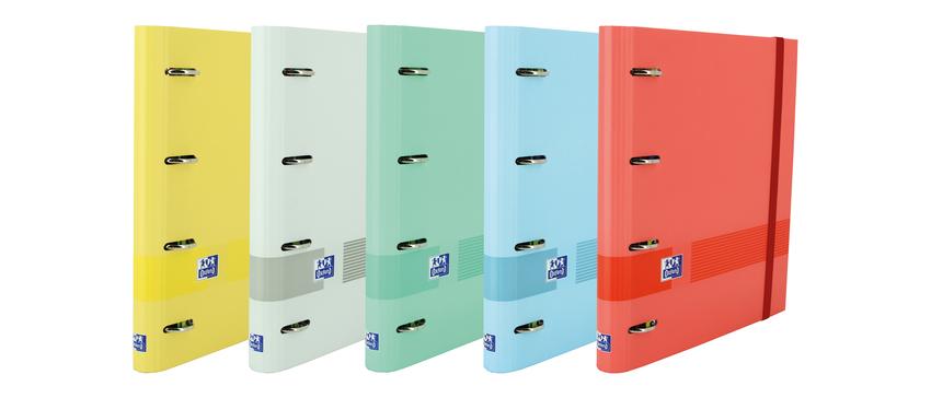 C/10 carpeta A4+ 4 anillas 35mm con recambios 5 colores surtidos oxford and you european binder 8412