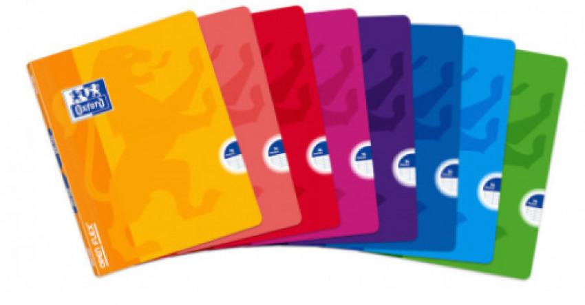 Paq/10 libretas a4 48h 90g. milimetrado c/m colores surtidos oxford 8412771086343