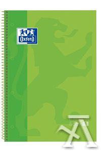 paq/5 Bloc a4 oxford verde 80h 90gr 1 linea european book 8412771101060