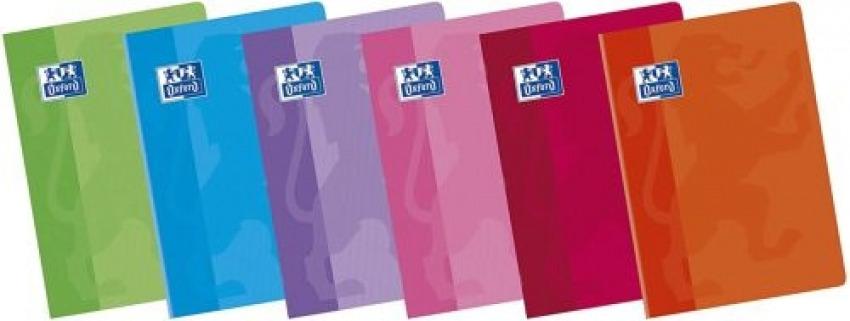 Paq/10 libretas a5+ 48h 90g. cuad.4x4 c/m colores surtidos oxford classic 8412771104863