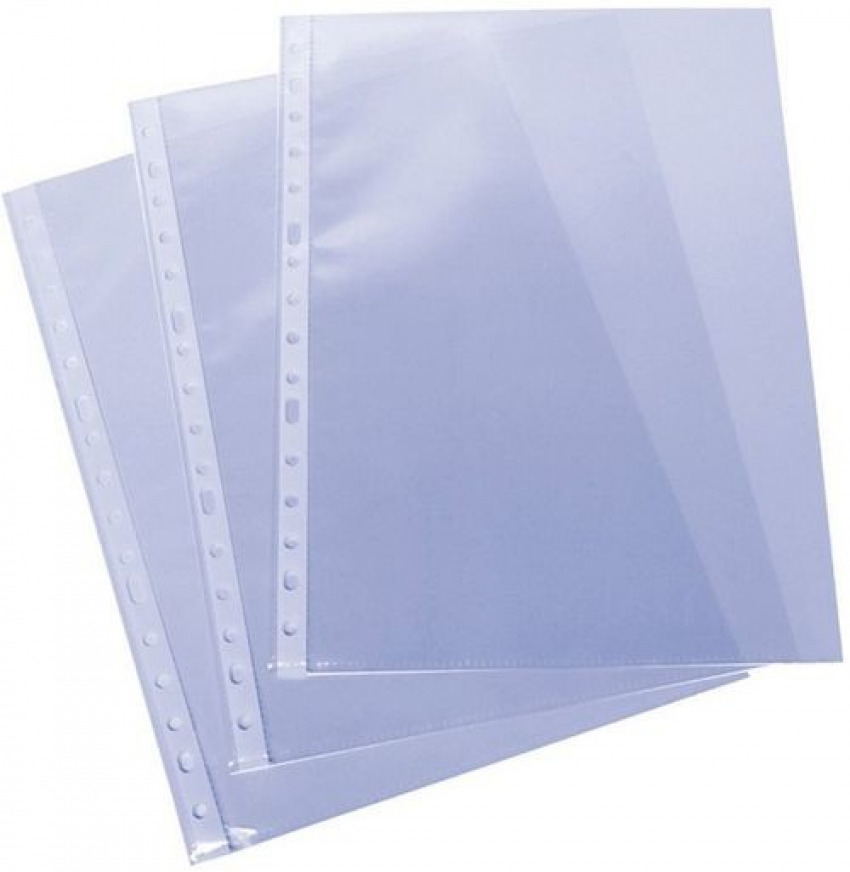 C/100 fundas portadocumentos fo. multitaladro polipropileno standard 70mc cristal 8412771209179