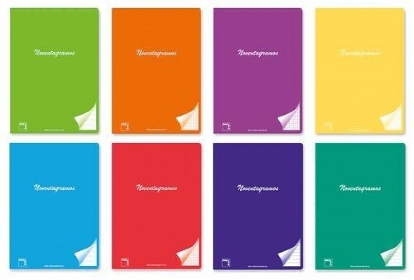 Paq/6 libreta grapada a5+ 48h 90g cuad. 4x4 c/m colores surtidos 8412855200900